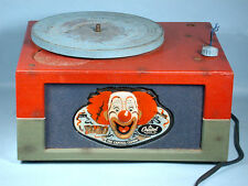 1940-1950s Bozo the Capitol Clown 78rpm Light Up Record Player Phonograph