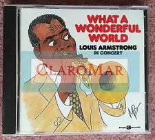 ☀️Louis Armstrong in Concert CD What a Wonderful World 1988 Project 3 NO BARCODE