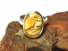 Adjustable  Brecciated  MOUKITE   Sterling  Silver   RING   925  -  Gift  Boxed!
