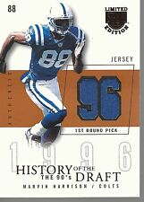 2003 SkyBox LE History of the Draft Jerseys #HDMH Marvin Harrison No #