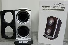 NEW DIPLOMAT 2 TWO WATCH WINDER HAS MULTIPLE SETTINGS ALL AUTOMATIC WATCHES DUAL