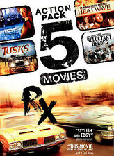Action Pack 5 Movies (DVD, 2014) Ice, Tusk, Heatwave, Reluctant Heros, RX