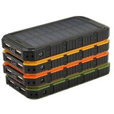 100000mAh New Solar Panel Power Bank Dual-USB Charger High Conversion Efficiency