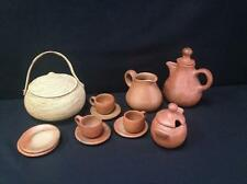 (13) Piece Native American Red Caly Tea Service & Lot 40