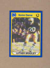 Luther Bradley signed 1990 Notre Dame Collegiate Collection card # 54