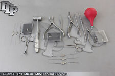 29 PC O.R GRADE LACRIMAL EYE MICRO MINOR SURGERY OPHTHALMIC SET