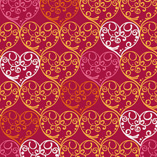 """Quilting Treasures Love Bugs Hearts Red 100% cotton  fabric remnant 33"""""""