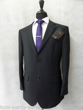 Men's Jeff Banks Travel Plus Black Suit 40S W34 L31 CC1774