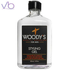 WOODY'S Quality Grooming For Men Styling Gel 12oz, Light to Medium Hold