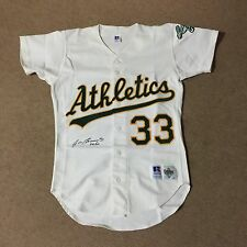 JOSE CANSECO Signed Auto Oakland Athletics Vintage Russell Authentic Game Jersey
