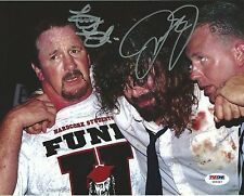 Mick Foley & Terry Funk Signed WWE 8x10 Photo PSA/DNA COA Hell in a Cell Picture