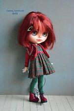 Blythe Pullip Doll Outfit  Dress +  jacket + boots + cap
