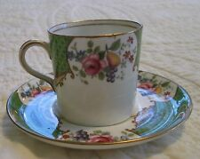 Lot of 8 Aynsley SCALA demitasse cups and 7 saucers - nice!