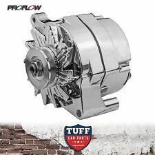 Ford Cleveland V8 302 351 Proflow Alternator 100 AMP Chrome Plated External Reg