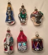 Vintage Lillian Vernon Set Of 6 Glass Christmas Ornaments