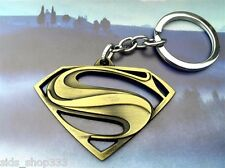 DC Comics SUPERMAN VS BATMAN S Shield Logo Movie Key chain Bronze color cosplay