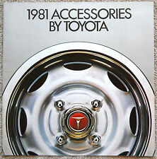 "1981 TOYOTA ACCESSORIES Sales Brochure Catalog Literature ""Combined US Shipping"""