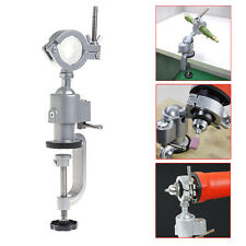360° Clamp-on Table Vise Bench Grinder Holder Electric Drill Stand Rotary Tool