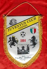 gagliardetto Juventus Club Faenza 1984 sede caffè Orfeo con disegno ceramiche