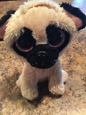"Ty Beanie Boo Boos Pugsley Pug Dog 6"" Retired"