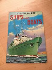 A PICTURE BOOK OF SHIPS AND BOATS, GOLDEN BOARD BOOK, FROEBEL-KAN