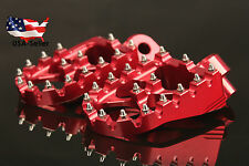 Foot Pegs Footrests WIDE For Honda CRF150R CR125R/250 CRF250R/X CRF450R/X Red