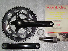 Road Crankset alu 9/10V Noir Compact 50/34 170mm & bottom bracket 111 mm