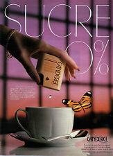 Publicité 1987  CANDEREL remplace le sucre