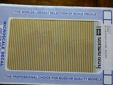 """Microscale Decal #91148 Barricade Stripes 6"""" Wide - Dulux Gold (1:87 Scale)"""