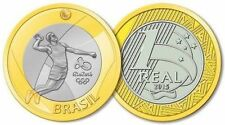 UNCIRCULATED COIN  - Olympic Games 2016 Rio 1 Real  Brazil - VOLLEYBALL - UNC
