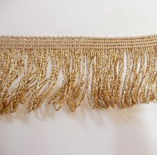 "Gold lurex métallique boucle robe frange largeur 50mm 2"", craft, fashion, par la m"