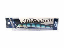 "NEW LONG JERK ""ALICE'S BAIT"" MINNOW 140 SLIM SINKING COLOR: AD78 BLUE BLACK 140"