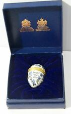 Halcyon Days Forget Me Not Flowers Egg Shaped Trinket Box in original box