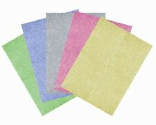 10 x A4 PREMIUM GLITTER CARD ASSORTED COLOURS ARTS CRAFTS CARD MAKING PAPER NEW