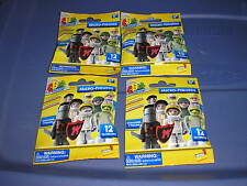New Lot of 4 Random Character Building Micro - Figures Series 1 Packages