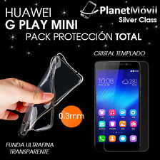 COVER TRANSPARENT ULTRATHIN + GLASS TEMPERED HUAWEI G PLAY MINI / HONOUR 4C