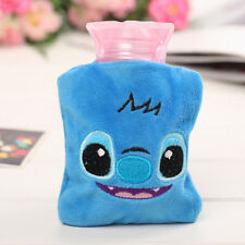 Blue Cute Stitch Warm Hot Cold Water Bag Bottle Home Office Portable Plush Gifts