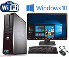 FAST Dell Windows 10 Desktop Computer Core 2 Duo 4GB Ram DVD WiFi 19