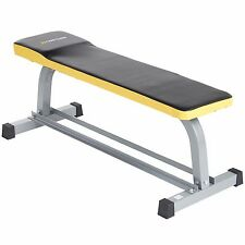 Gold Coast Flat Weight Lifting Fitness Training Bench with Dumbbell Storage Rack