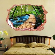 3D PVC Lane In Forest Decorative Wall Sticker Home Decal Room DIY Ornament