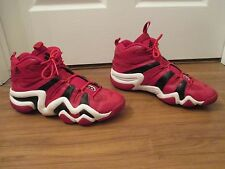 Used Worn Size 13 Adidas Crazy 8 Retro Basketball Shoes Red White Black