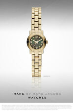 NIB Marc By Marc Jacobs Gold-Tone Stainless Steel Logo Watch 20 Mm MBM3275