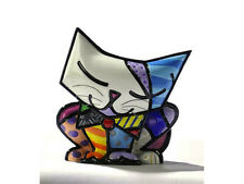 "ROMERO BRITTO MINIATURE FIGURINE: ""SUGAR"" CAT ** NEW **"