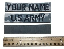 2 piece ACU Custom Name Tape & US ARMY Tape set, with Fastener - Military
