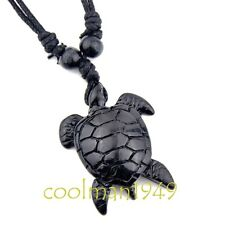 Cool black Hawaiian surfing turtle pendant necklace RH176