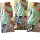 Wholesale Fashion Women Blouse Loose Pullover Shirt 3/4 Sleeve Cotton Shirt Tops