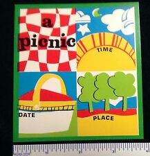 WOODSTOCK GROOVY POP ART 20 1960s TIME DATE PLACE  INVITATION PICNIC CARDS  #4a