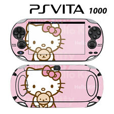 Vinyl Decal Skin Sticker for Sony PS Vita PSV 1000 Cute Kitty Pink Teddy Bear