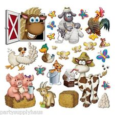 Barnyard FARM ANIMAL PROPS 23 Large Party Decorations Scene Setter PHOTO BOOTH
