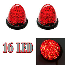 2X Red 16-LED Truck Side Lights Beehive Bullet Cab Top Roof Bulbs Truck 12V ATV